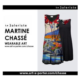 Le galeriste art à porter Martine Chassé collection